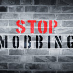 Stop mobbing stencil print on wall